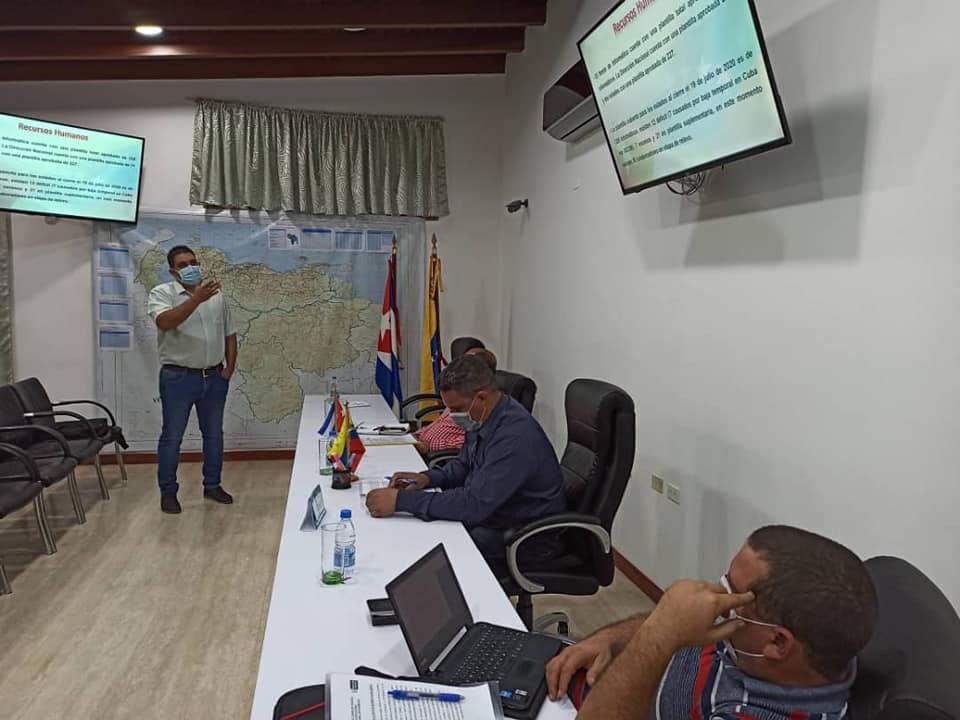Comienza la visita al Programa de Informatización y Ciberseguridad de la Misión Médica Cubana en Venezuela.